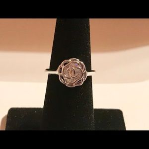 Cute 925 Silver Rings White Sapphire Ring Size 6